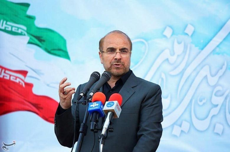 Mohammad Baqer Qalibaf gestures in this undated handout photo provided by Tasnim News Agency on May 9, 2017. Tasnim News Agency/Handout via REUTERS