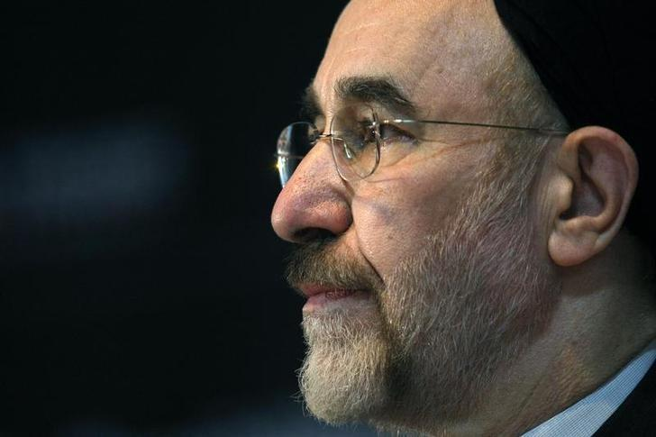 File Photo: Former Iranian President Mohammad Khatami makes a keynote speech to an audience at a university in Melbourne March 26, 2009.REUTERS/Mick Tsikas