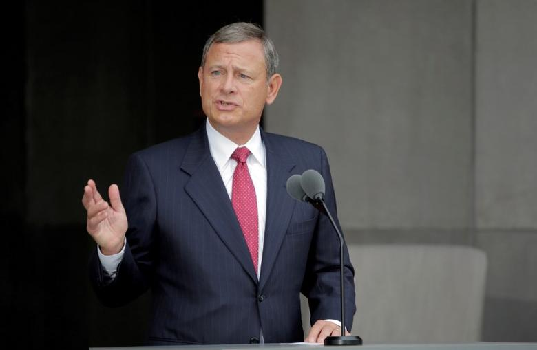 U.S. Supreme Court Chief Justice John Roberts speaks at the dedication of the Smithsonian's National Museum of African American History and Culture in Washington, U.S., September 24, 2016. REUTERS/Joshua Roberts/Files