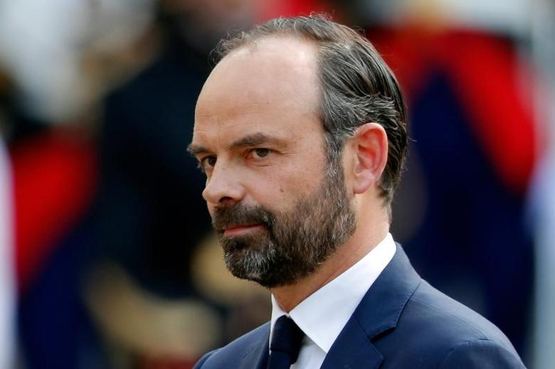 Newly-appointed French Prime Minister Edouard Philippe attends a handover ceremony at the Hotel Matignon, in Paris, France, May 15, 2017 REUTERS/Charles Platiau