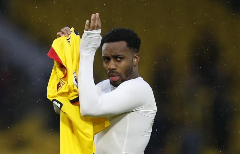 Britain Football Soccer - Watford v Tottenham Hotspur - Premier League - Vicarage Road - 16/17 - 1/1/17 Tottenham's Danny Rose applauds fans after the game  Action Images via Reuters / Paul Childs