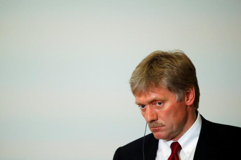 Kremlin spokesman Dmitry Peskov attends a news conference of Russian President Vladimir Putin and Laos' Prime Minister Thongloun Sisoulith following the Russia-ASEAN summit in Sochi, Russia, in this file photo dated May 20, 2016. REUTERS/Sergei Karpukhin