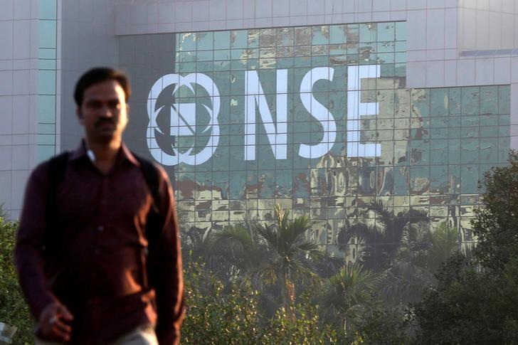 A man walks past the NSE (National Stock Exchange) building in Mumbai, December 27, 2016. REUTERS/Shailesh Andrade/Files