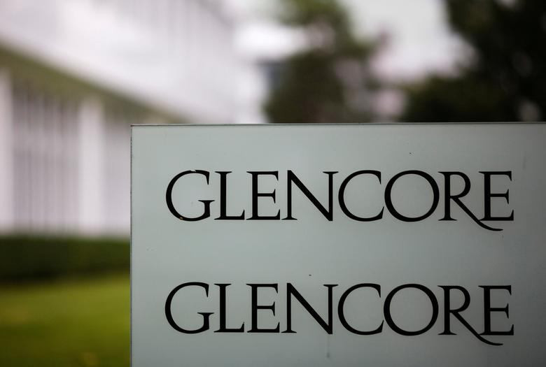 FILE PHOTO: The logo of Glencore is seen in front of the company's headquarters in Baar, Switzerland, September 7, 2012.     REUTERS/Michael Buholzer/File Photo