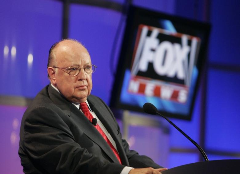 FILE PHOTO - Roger Ailes, chairman and CEO of Fox News and Fox Television Stations, attends a panel discussion at the Television Critics Association summer press tour in Pasadena, California, U.S. on July 24, 2006.  REUTERS/Fred Prouser/File Photo
