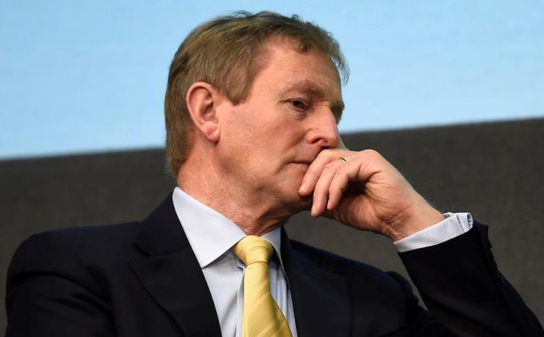 Ireland's Prime Minister Enda Kenny speaks at the launch of the Healthy Ireland Network at Dublin Castle. May 18, 2017. REUTERS/Clodagh Kilcoyne