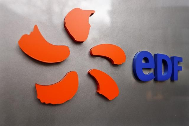 FILE PHOTO: The logo of France's state-owned electricity company EDF is seen on the company's headquarters in Paris, France, November 24, 2016.  REUTERS/Charles Platiau