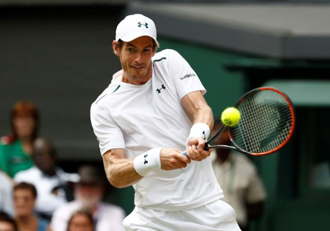 Tennis - Wimbledon - London, Britain - July 10, 2017 Great Britain's Andy Murray in action during his fourth round match against France's Benoit Paire Stefan Wermuth