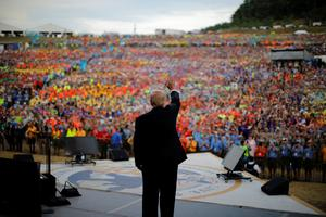 Trump speaks at Scout Jamboree