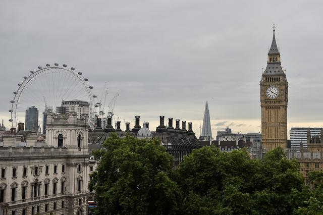 FILE PHOTO: The Houses of Parliament and the London Eye are seen from the Queen Elizabeth II Conference Centre, in central London, Britain, July 1, 2017.  REUTERS/Hannah McKay/File Photo