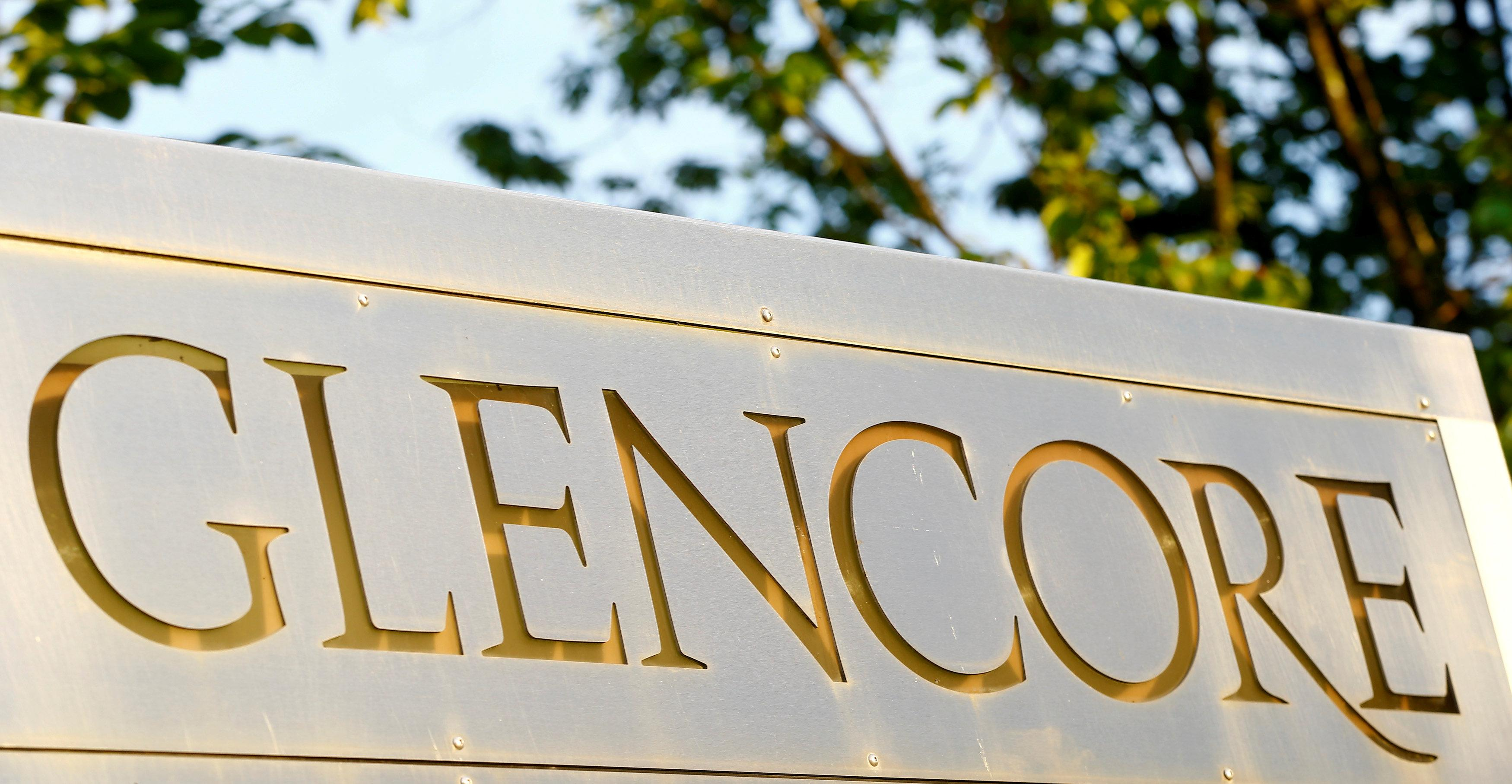 The logo of commodities trader Glencore is pictured in front of the company's headquarters in Baar, Switzerland, July 18, 2017.  Arnd Wiegmann