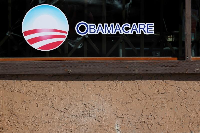 A sign on an insurance store advertises Obamacare in San Ysidro, San Diego, California, U.S., October 26, 2017. Mike Blake
