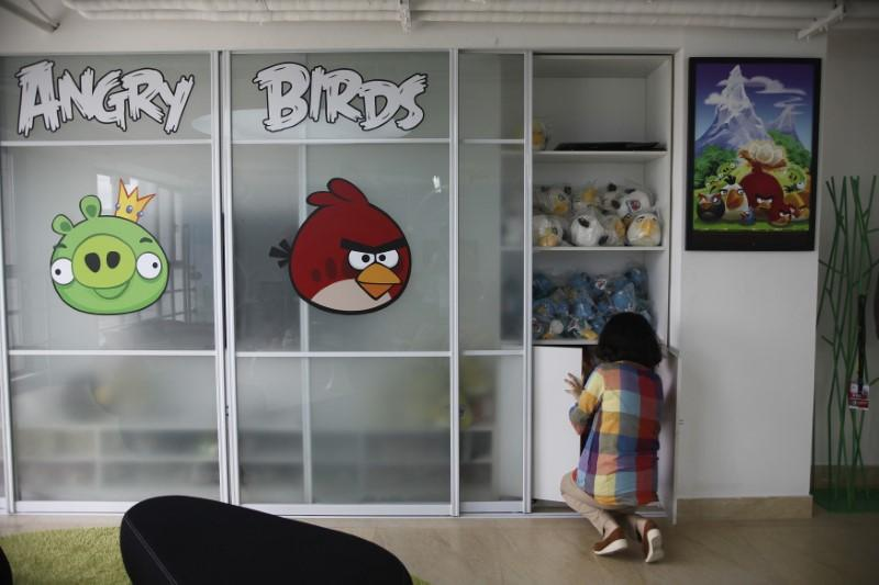 An employee works inside an office of Rovio, the company which created the video game Angry Birds, in Shanghai June 20, 2012. Aly Song/Files