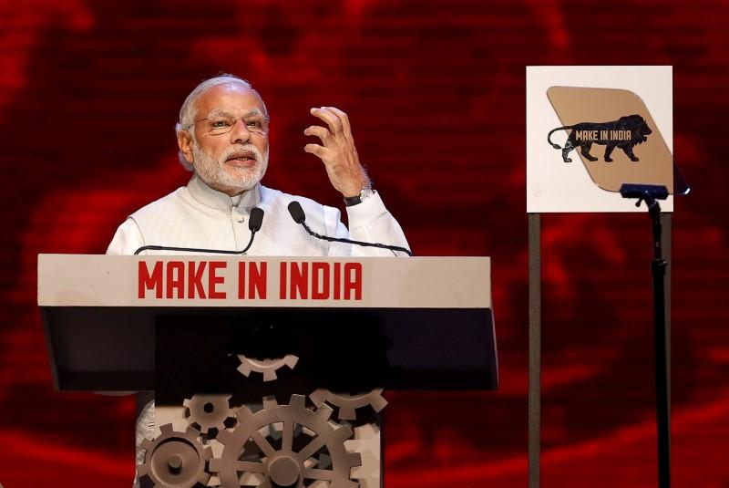 India's Prime Minister Narendra Modi speaks during the inauguration ceremony of the 'Make In India' week in Mumbai, India, February 13, 2016. Danish Siddiqui