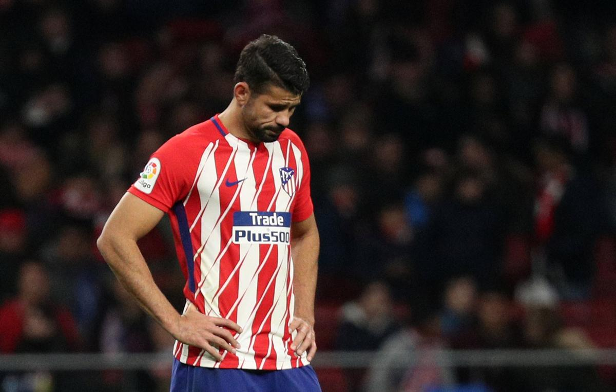 Soccer: Atletico's Diego Costa out with groin strain
