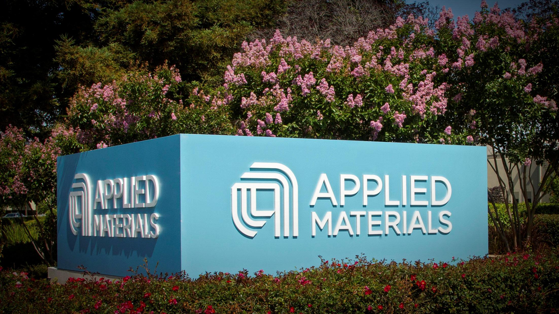Applied Materials' new corporate signage photo in Santa Clara, California, U.S. is shown in this image released on August 22, 2016.  Applied Materials/Handout via