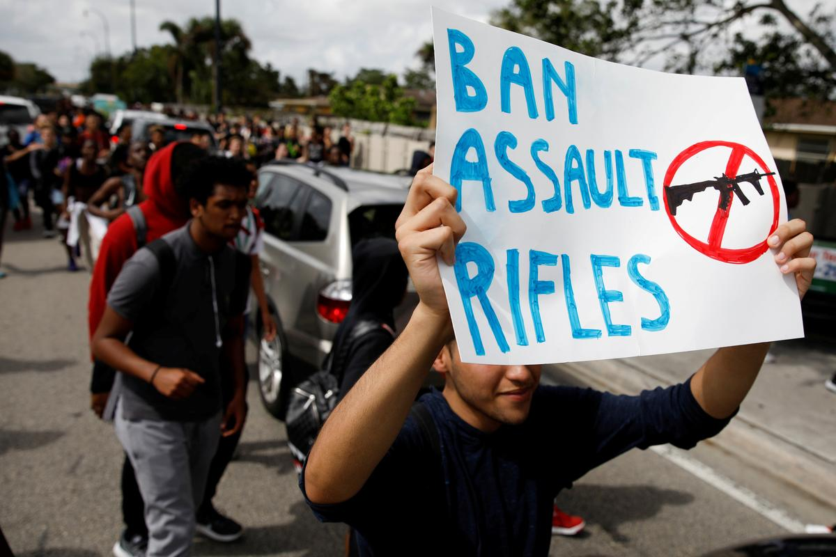 Empty shoes, empty schools: U.S. gun law activists plan two days of theater