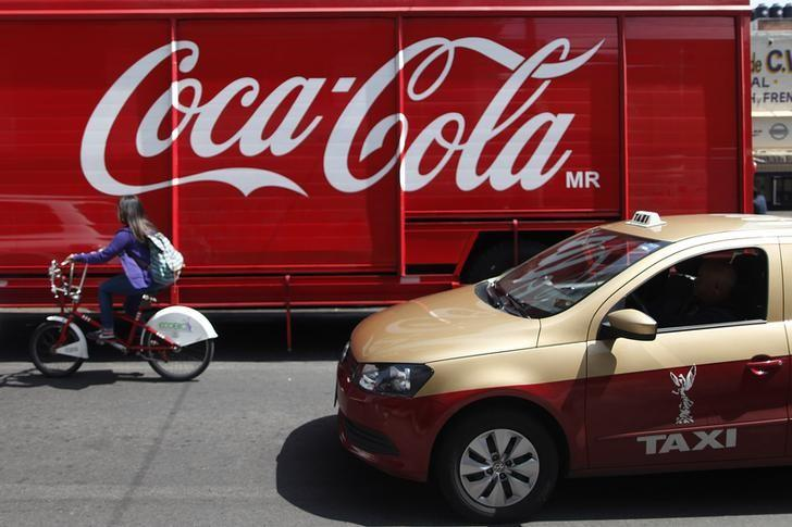 A Coca-Cola truck is seen in traffic in Mexico City September 9, 2013. Edgard Garrido