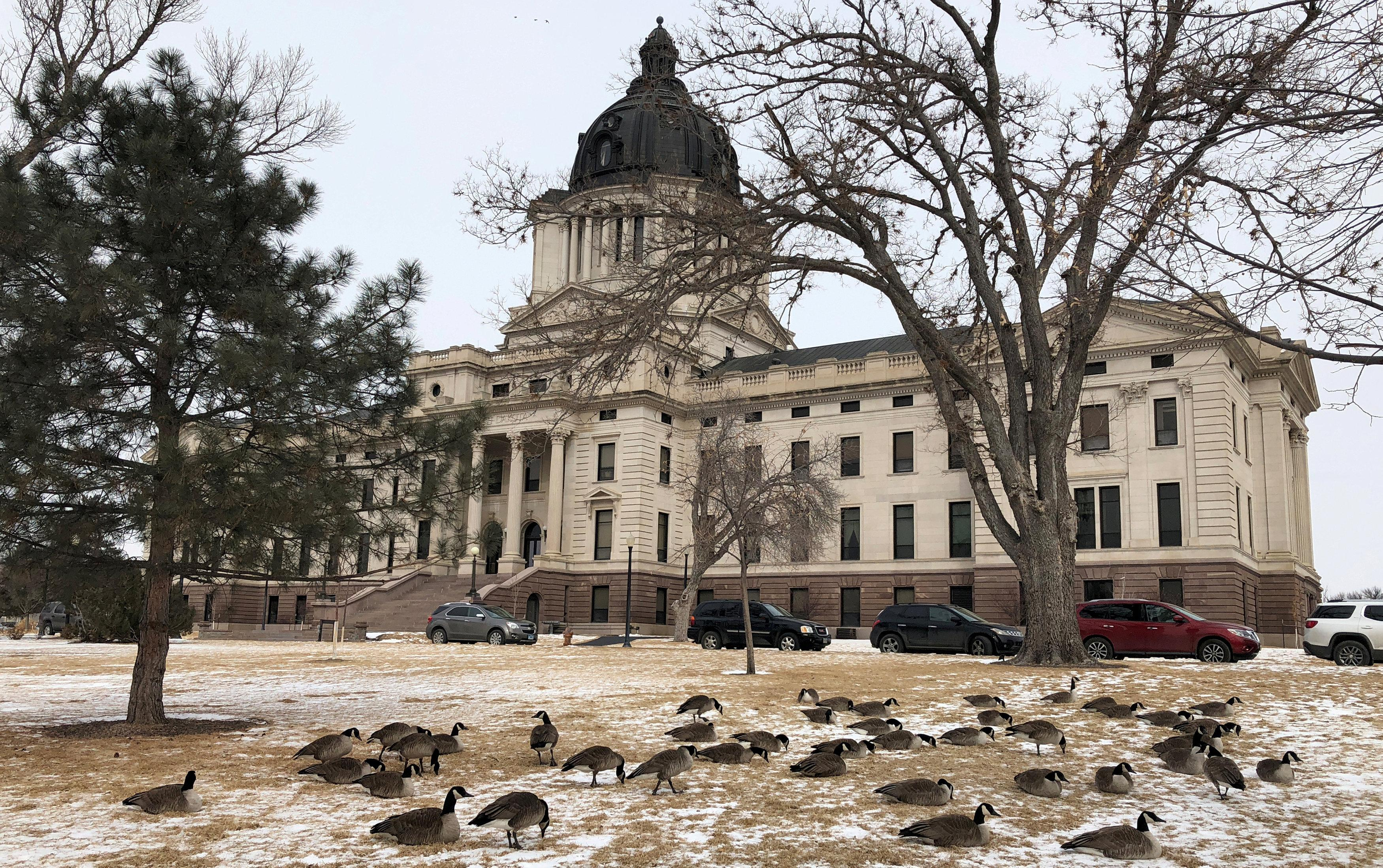 The South Dakota state capitol building is seen in Pierre, South Dakota, U.S., February 7, 2018.  Lawrence Hurley
