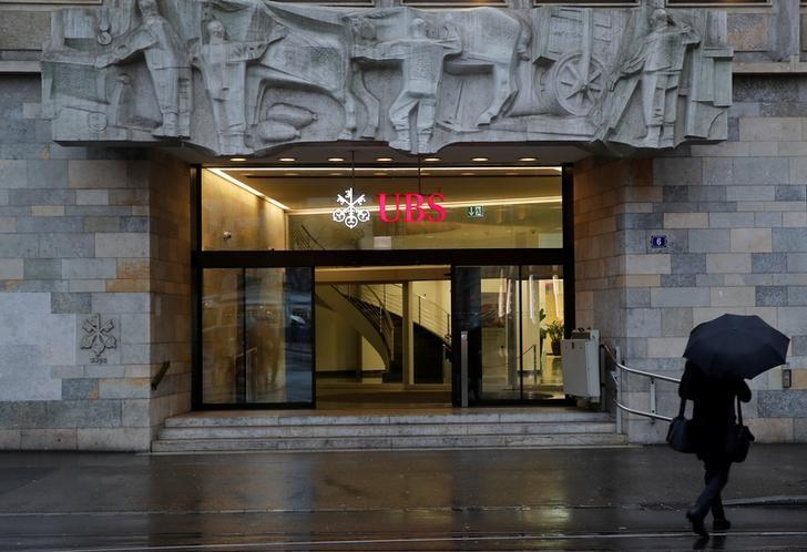The logo of Swiss bank UBS is seen at a branch office in Zurich, Switzerland January 22, 2018. Arnd Wiegmann