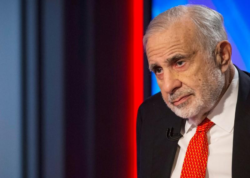 Billionaire activist-investor Carl Icahn gives an interview on FOX Business Network