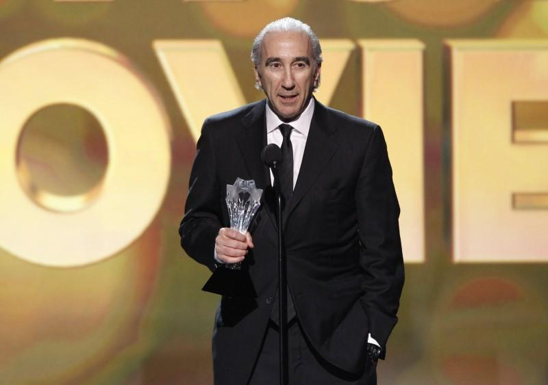 "Gary Barber, co-CEO of MGM, accepts the award for Best Action Movie for ""Skyfall"" at the 2013 Critics"