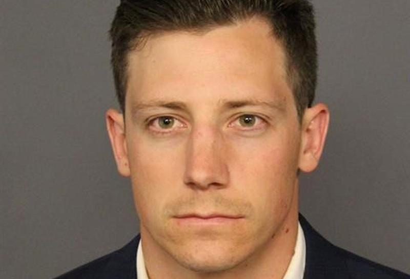 FBI agent Chase Bishop appears in a booking photo released by the Denver District Attorney's Office, in Denver, Colorado, U.S., June 12, 2018.   Denver District Attorney's Office/Handout via