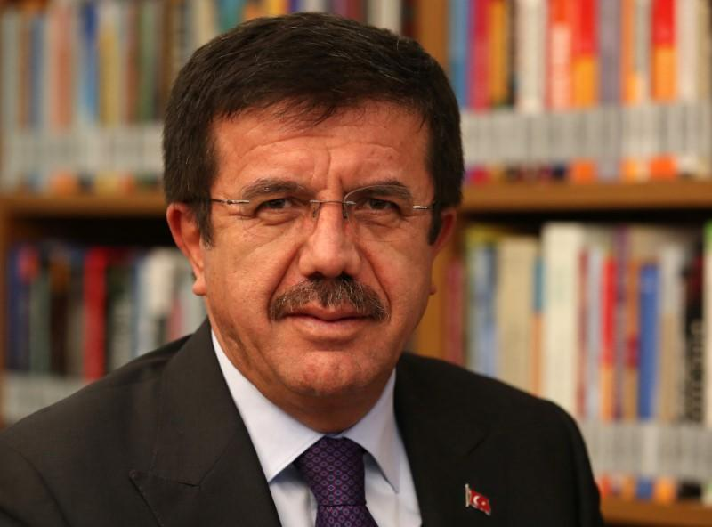 Turkey's Economy Minister Nihat Zeybekci poses for a photo before an interview with Reuters in Ankara, Turkey January 12, 2018. Picture taken January 12, 2018. Umit Bektas