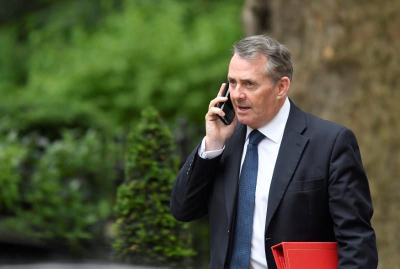 Britain's Secretary of State for International Trade Liam Fox leaves 10 Downing Street in London, June 7, 2018. Toby Melville