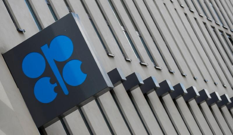 The logo of the Organization of the Petroleum Exporting Countries (OPEC) is seen at OPEC's headquarters in Vienna, Austria June 19, 2018.   Leonhard Foeger