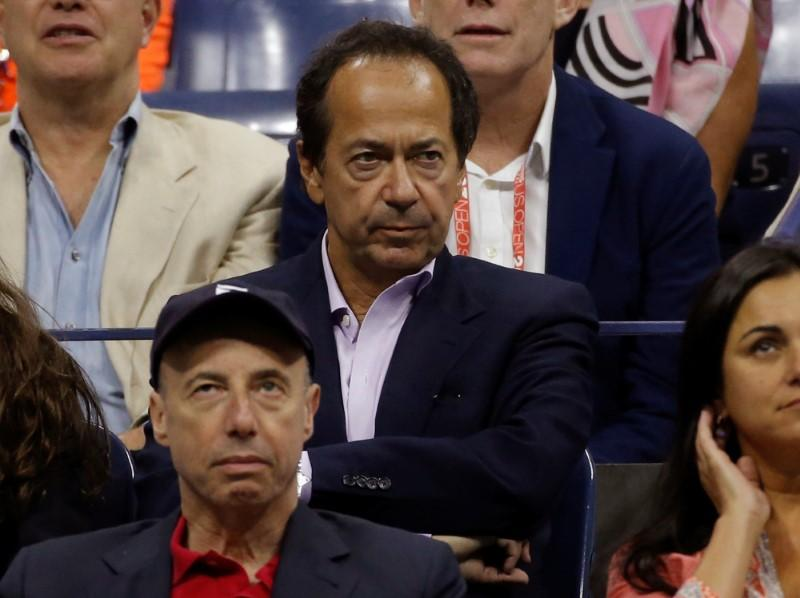 Hedge Fund manager John Paulson attends the men's singles final match between Roger Federer of Switzerland and Novak Djokovic of Serbia at the U.S. Open Championships tennis tournament in New York, NY, U.S. on September 13, 2015.      Mike Segar