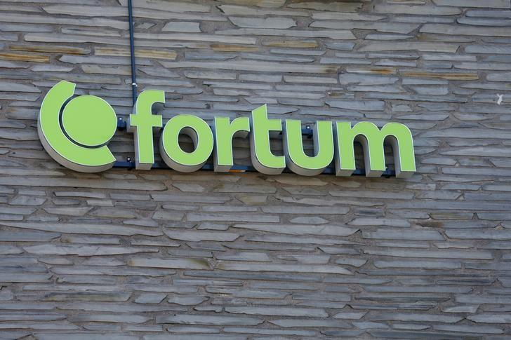 Finnish energy company Fortum sign is seen at their headquarters in Espoo, Finland July 17, 2018. Ints Kalnins