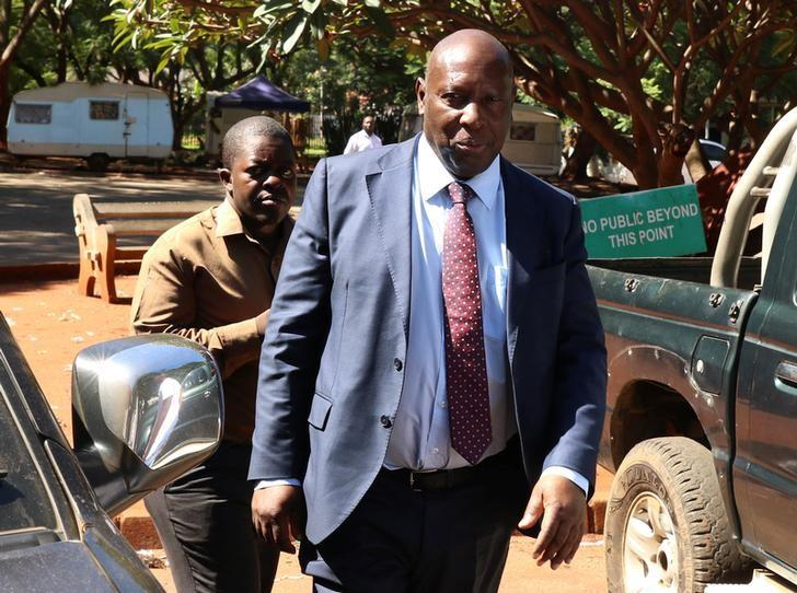 Ex-energy minister Samuel Undenge arrives at the Harare Magistrates Court in Harare, Zimbabwe, January 6, 2018. Philimon Bulawayo
