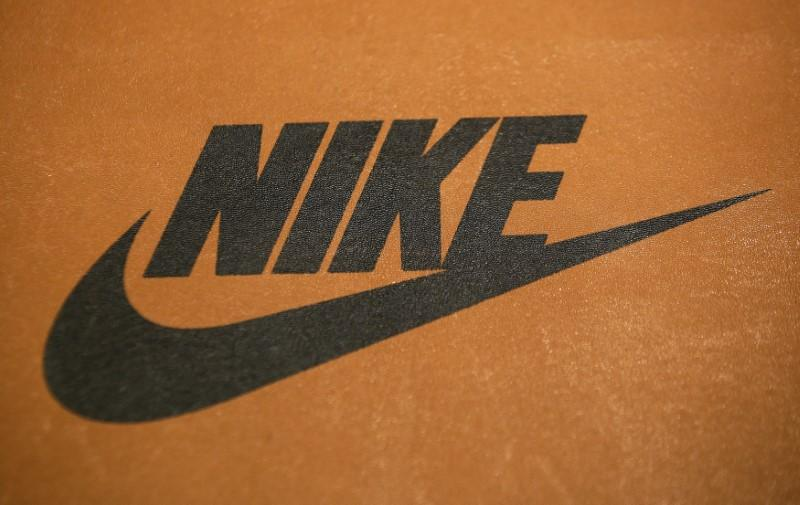 Nike logo is seen in a shop in Rome, Italy, March 30, 2016.   Max Rossi