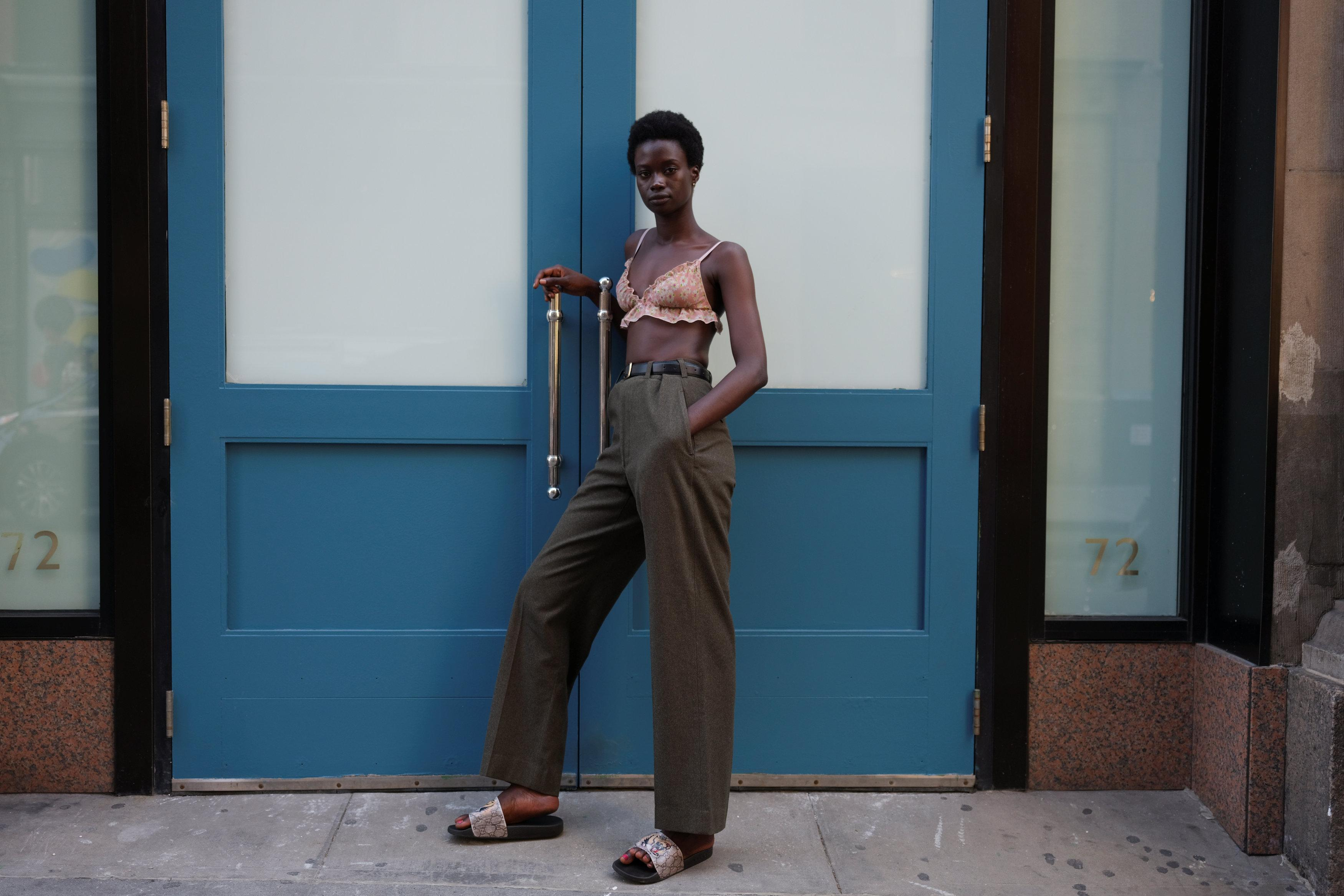 Fatou Jobe, 24, a model based in New York, poses for a portrait in the Manhattan borough of New York, U.S., September 3, 2018.  Caitlin Ochs