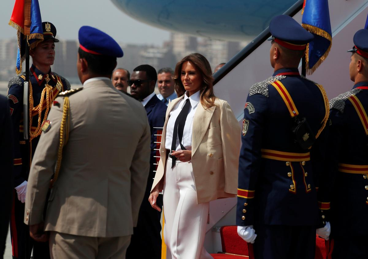 U.S. First Lady Melania Trump wraps up solo African tour in Egypt