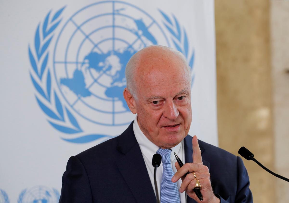 Syria pushes back on U.N. role in constitutional talks: U.N. envoy