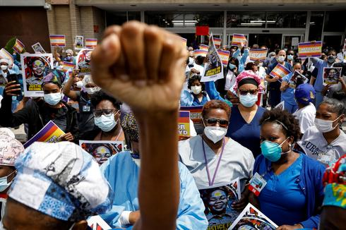 Healthcare workers join protests against police brutality