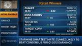 Trading at Noon: Big jump in same-store sales