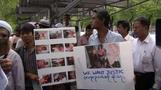 Thai Muslims protest Myanmar violence