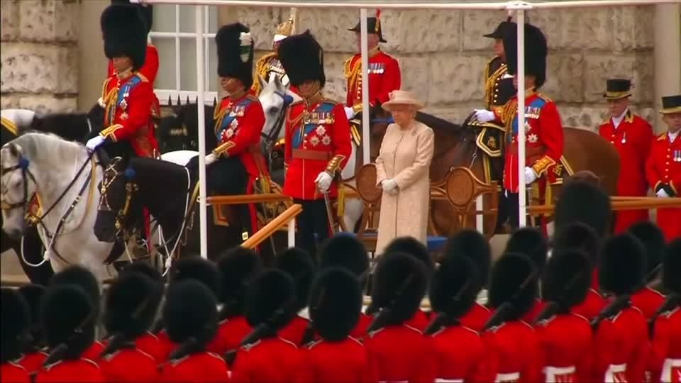 Trooping the Colour parade marks British Queen's birthday
