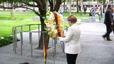 German Chancellor Merkel pays tribute to 9/11 victims