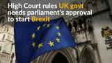UK court says parliament must have Brexit say