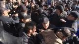 Turkish police clash with pro-Kurdish protesters