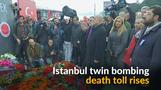 Istanbul twin bombings death toll increases