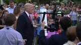 Trump hosts his first Easter Egg Roll