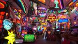 Neon cafe lights up London in technicolour
