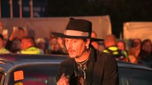 Actor Johnny Depp turns up at Glastonbury