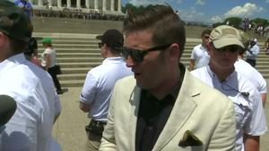 White nationalist Richard Spencer joins protesters at