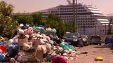 ギリシャの町にごみがあふれる、収集業者がスト(28日)